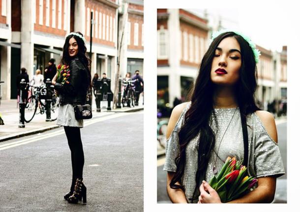 alessandra kamaile blogger jacket cut-out dress