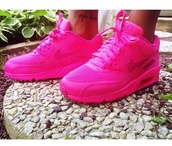 shoes,nike air max 90,fluorescent #airmax #hyperfuse