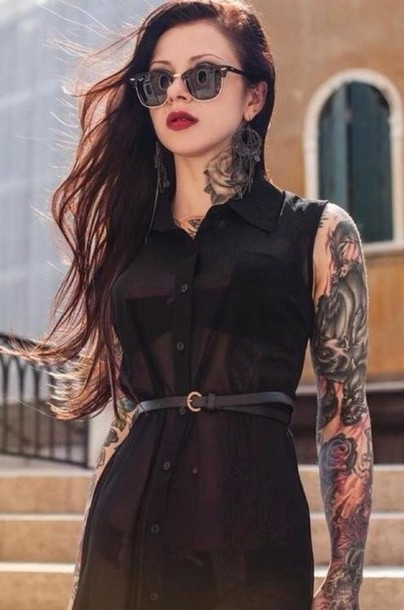 dress chiffon button up black dress black tattoo clothes little black dress emo goth tumblr girl tumblr clothes so awesome grey fluffy cool 90s style goth pastel goth blouse black blouse black chiffon dress