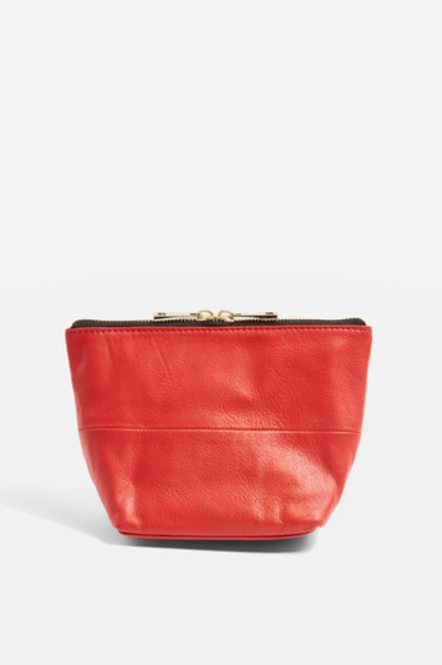Topshop bag leather red