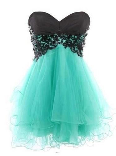 Fashion lace ball gown sweetheart mini prom dress