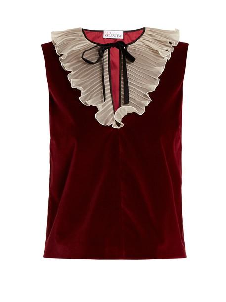REDValentino top velvet top velvet burgundy
