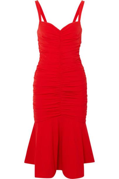 Rebecca Vallance dress midi dress midi red