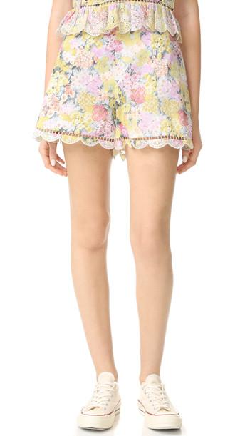Zimmermann shorts flare floral
