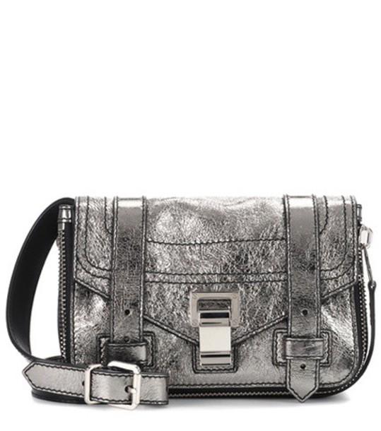 Proenza Schouler mini bag shoulder bag leather metallic