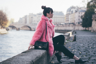 meet me in paree blogger coat sweater pants jeans shoes bag