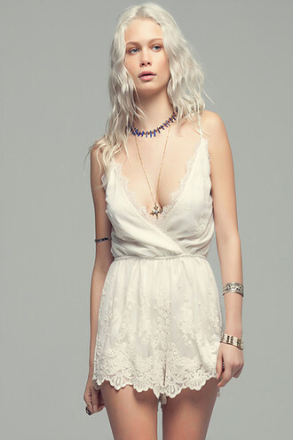 romper white fashion lace sexy summer spring girly freevibrationz style romantic boho free vibrationz