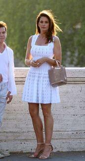 dress,white,white dress,cindy crawford,model
