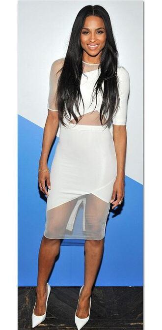 dress asymmetrical ciara white bodycon