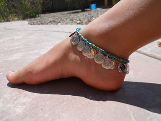 jewels anklet tribal pattern tuquoise