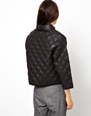 ASOS | ASOS Quilted Sweatshirt with Padded High Neck at ASOS