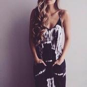 dress,summer dress,tie dye maxi dress with pockets