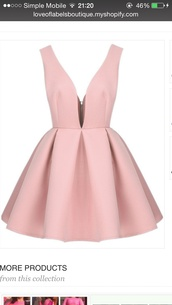 dress,pink dress,pastel dress,pink,style,fashion,elegant,v neck,zip,summer dress,summer outfits,summer,girly,queen,quality,casual,night,night dress,cute,beautiful,pinkydress,party outfits,party dress,light pink