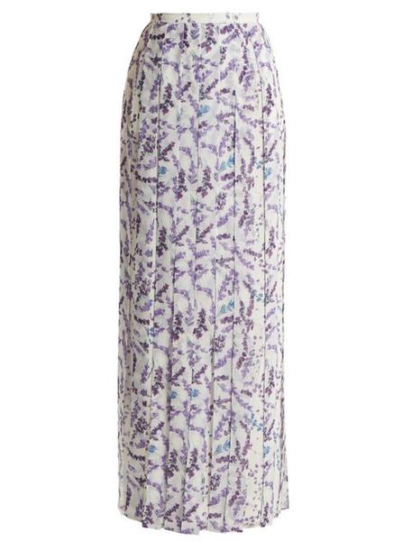 Max Mara - Oreste Skirt - Womens - White Print