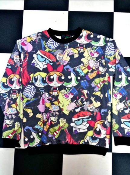cartoon cartoon network sweater