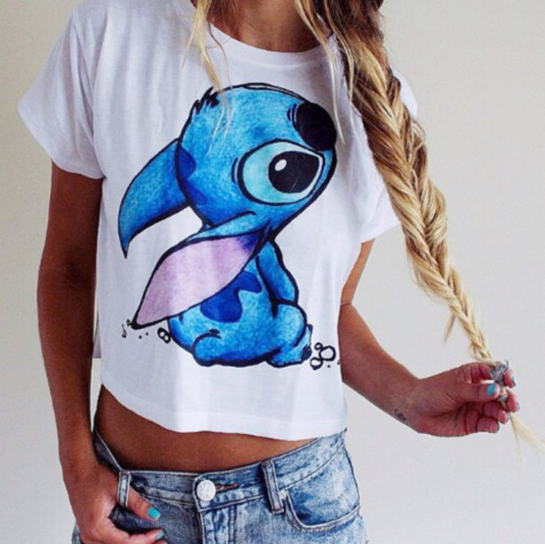 t-shirt shirt a dutch site pleas  white and blue t-shirt lilo stitch disney stitch blue crop top stitch lilo and stitch animal top youtuber brandy melville lilo and stich !!! what ?!?!? #must have disney tumblr outfit lilo&stitch stich liloandstitch blue shirt sweet blanc bleu crop tops white shirt blonde hair crop tops white blue summer t-shirt tumblr shirt cute top coton belt blouse white top style fashion jeans white t-shirt original funny t-shirt