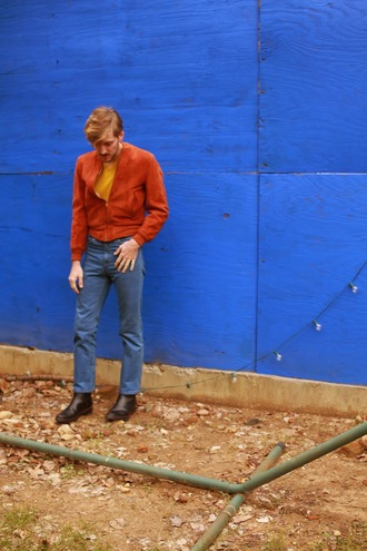 fashion goggled blogger menswear mens jacket belt shoes mens leather jacket mens chino pants