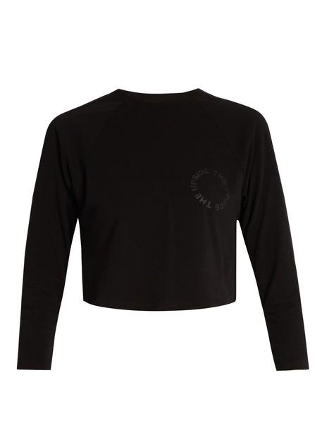 The Upside sweatshirt cropped cotton print black sweater