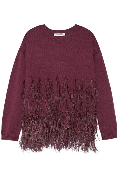 Elizabeth and James sweater cotton burgundy