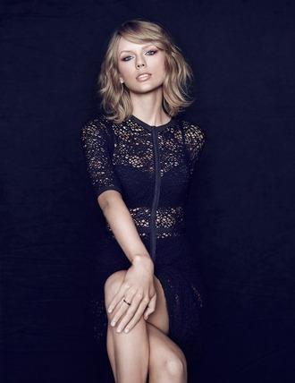 top blouse dress taylor swift lace black