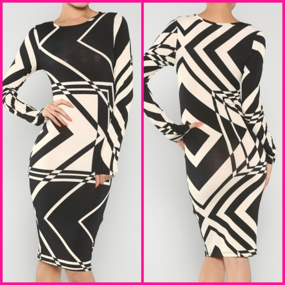 spandex dress bodycon blackandwhite,  dress, wedding, sexy midi dress undefined