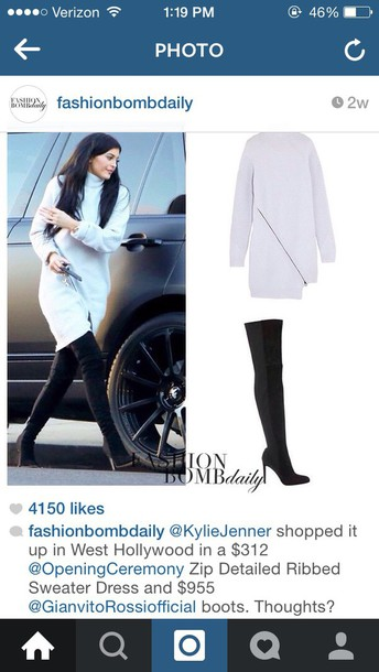 kylie jenner sweater dress