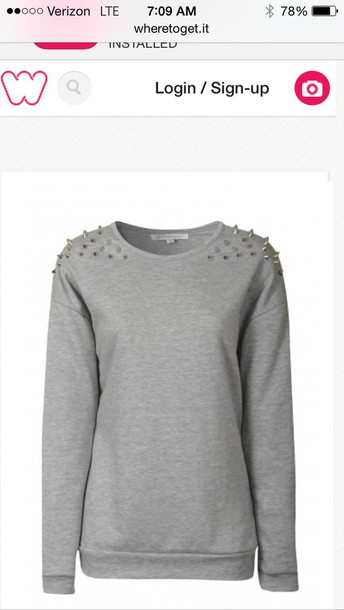sweater studded gray