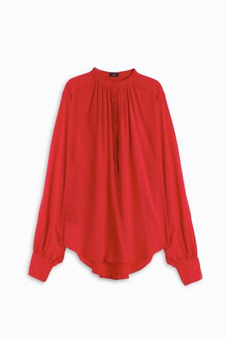 shirt women red top
