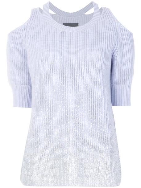 Zoe Jordan top knitted top women blue wool