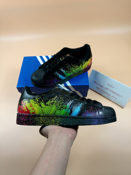 adidas superstar paint splatter