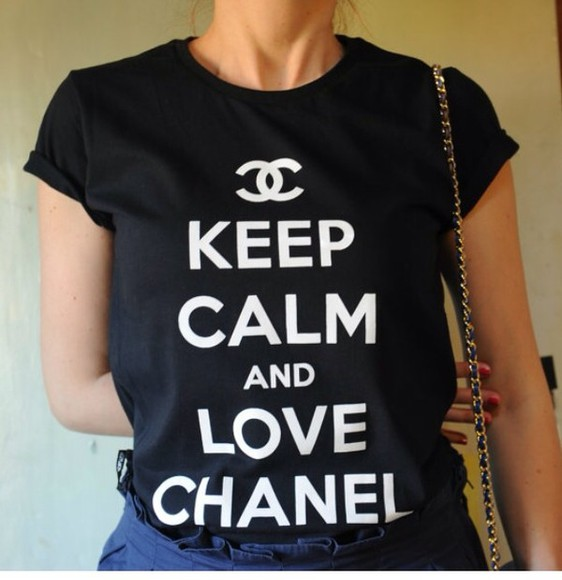 shirt chanel t-shirt chanel shirt chanel t-shirt vogue keep calm