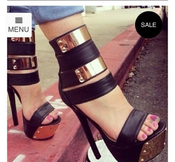 shoes platform high heels black heels gloves