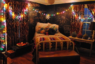 bedding rooms hipster cool lights