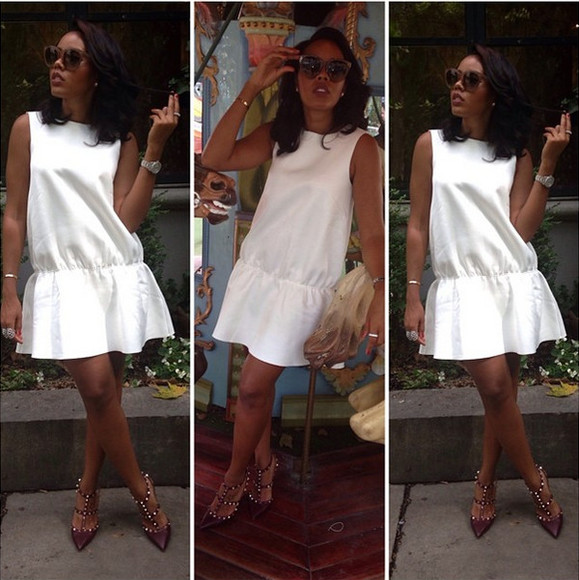 dress white dress shoes angela simmons Angela Simmons