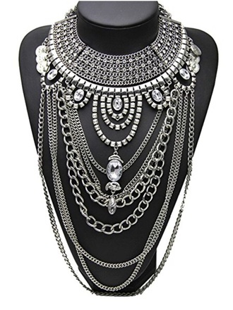 jewels silver babe bling necklace