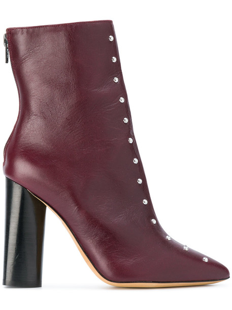 Iro studded women boots leather suede brown shoes