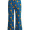 Floral-print wide-leg corduroy cropped trousers