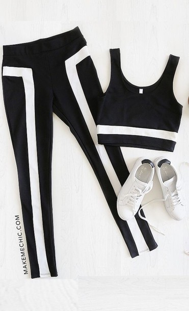 leggings jumpsuit black and white black and white pants black and white  jumpsuit sexy sexy outfit 1d1467643