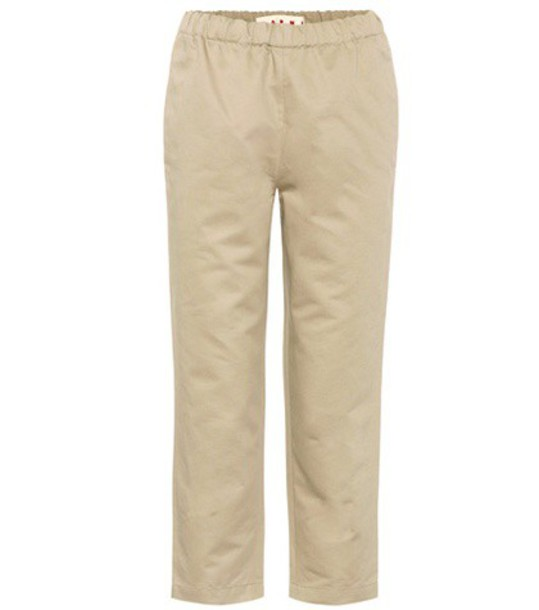 MARNI cotton beige pants