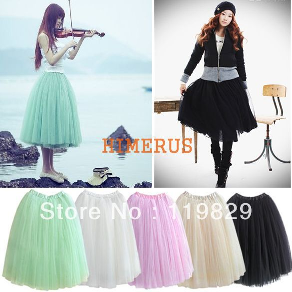 Princess Fairy Style 3 layers Voile Tulle maxi Skirt Bouffant Puffy fashion long skirts free shipping 5174-in Skirts from Apparel & Accessories on Aliexpress.com