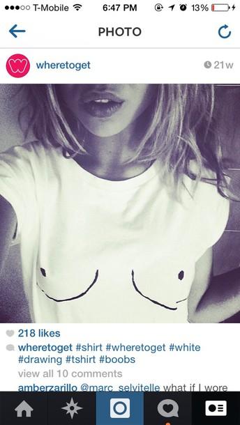 white shirt boobs shirt