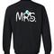 Mr mrs sweatshirt back