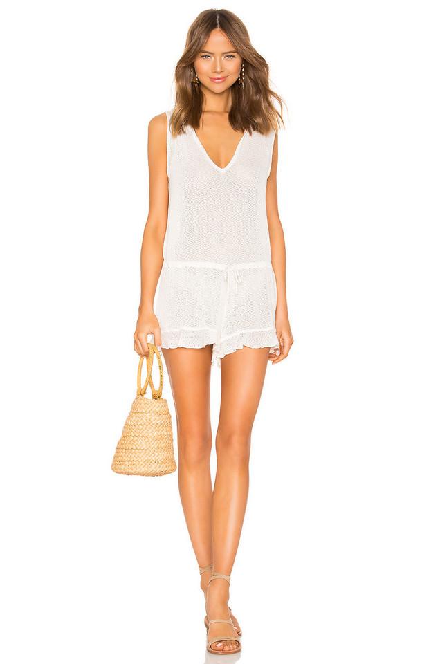 Beach Bunny Annika Romper in white