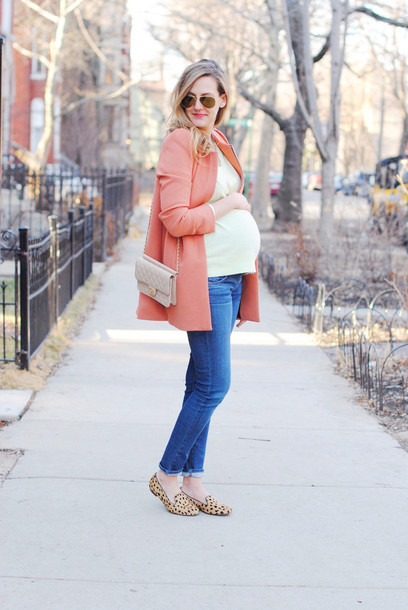 see jane coat sweater jeans shoes sunglasses bag
