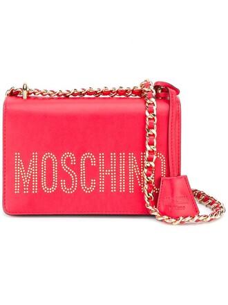 women embellished bag shoulder bag red
