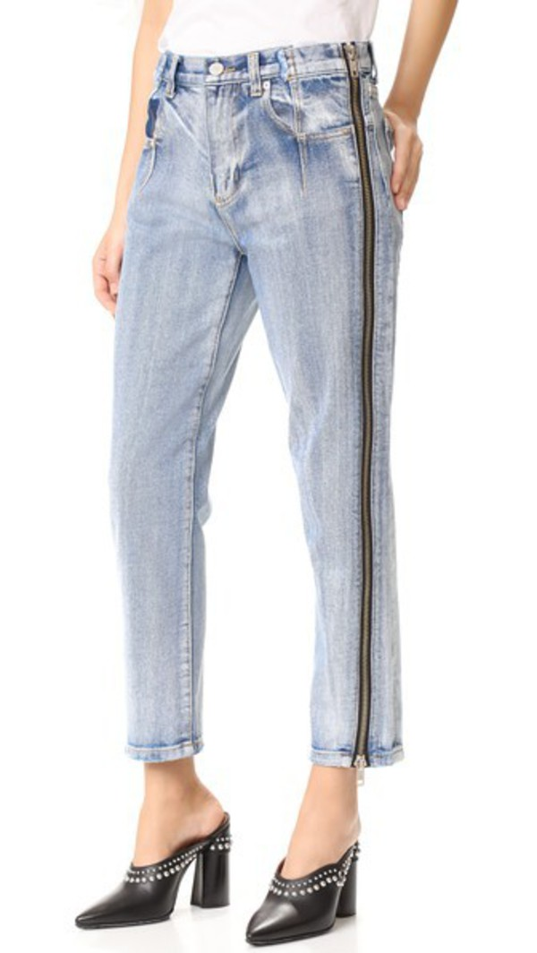 3.1 Phillip Lim Straight Jeans with Zipper in indigo