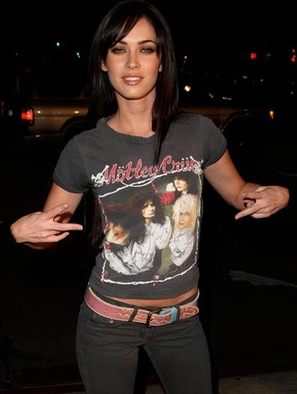 t-shirt megan fox mötley crüe rock top style fashion