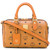 MCM - logo tote - women - Calf Leather - One Size, Brown, Calf Leather