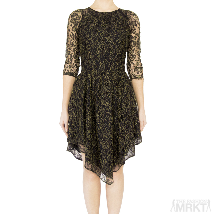 Dolce Vita Alondra Asymmetric Lace Dress / TheFashionMRKT