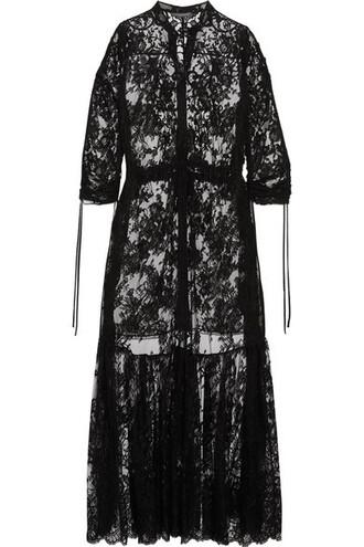 tunic lace cotton black top